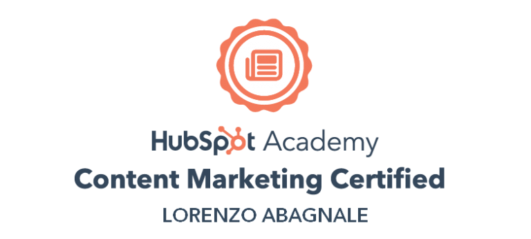 Lorenzo-Abagnale-HubSpot-Certification-Content-Marketing