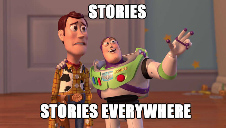 Stories, stories everywhere! (Toy Story: Woody & Buzz Lightyear)