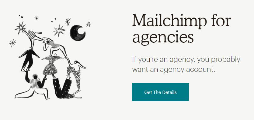 Copywriting per il web. Call to action: esempio 2 (Mailchimp)