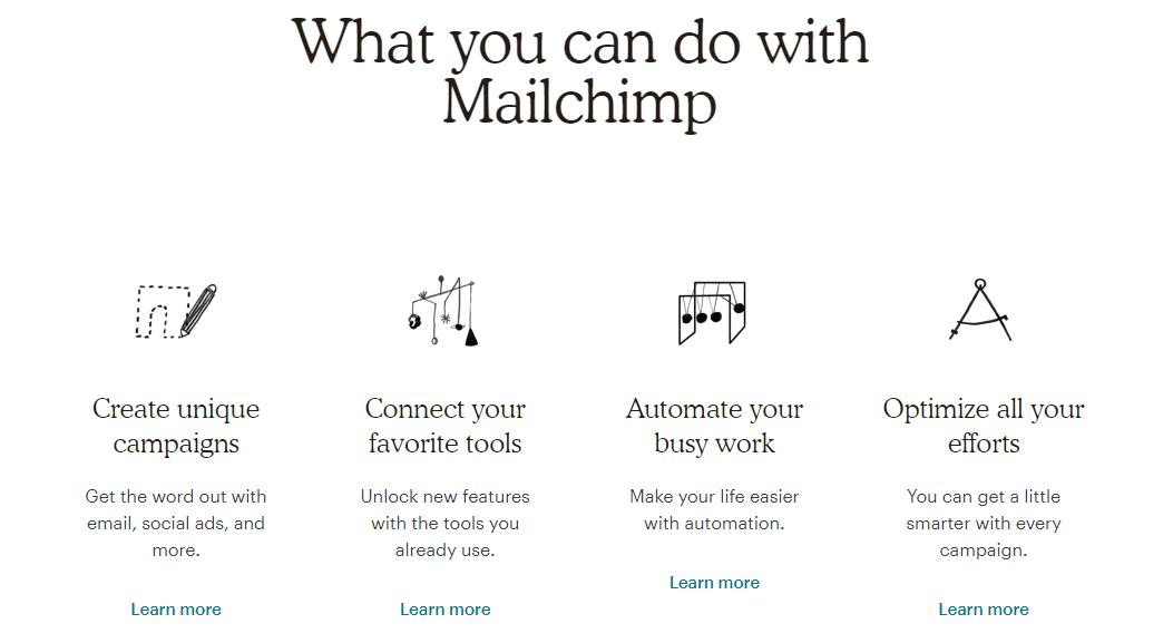 Copywriting per il web: come strutturare la home page di un sito. L'esempio di Mailchimp