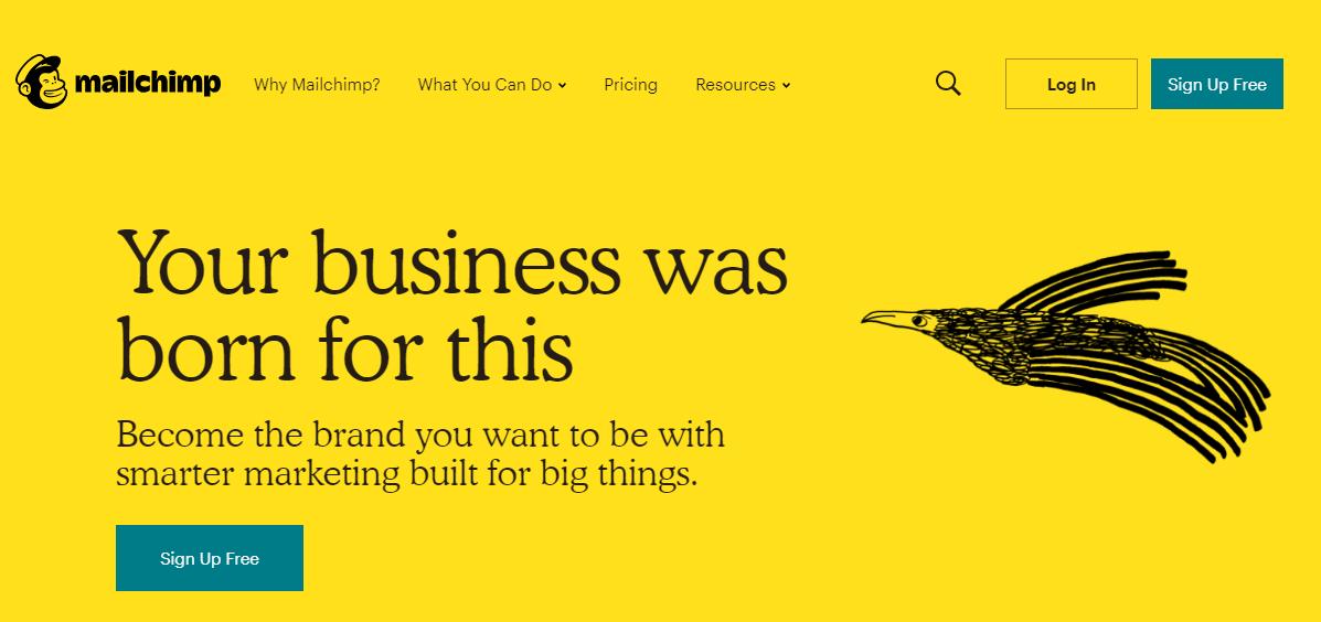 Copywriting per il web: cosa scrivere sulla home page di un sito. L'esempio di Mailchimp
